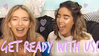 GET READY WITH US | SKINCARE + LIFE CHATS | Sophia and Cinzia