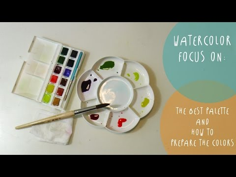 Watercolor FOCUS ON: The BEST watercolor PALETTE and how to prepare the colors  by ART Tv