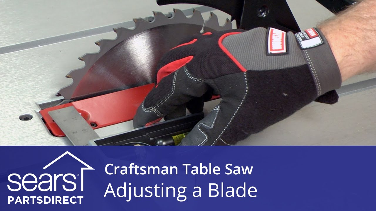 How to adjust a craftsman table saw blade youtube greentooth Image collections
