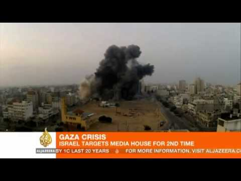 Death toll in Gaza hits 100; Israel targets media building   YouTube