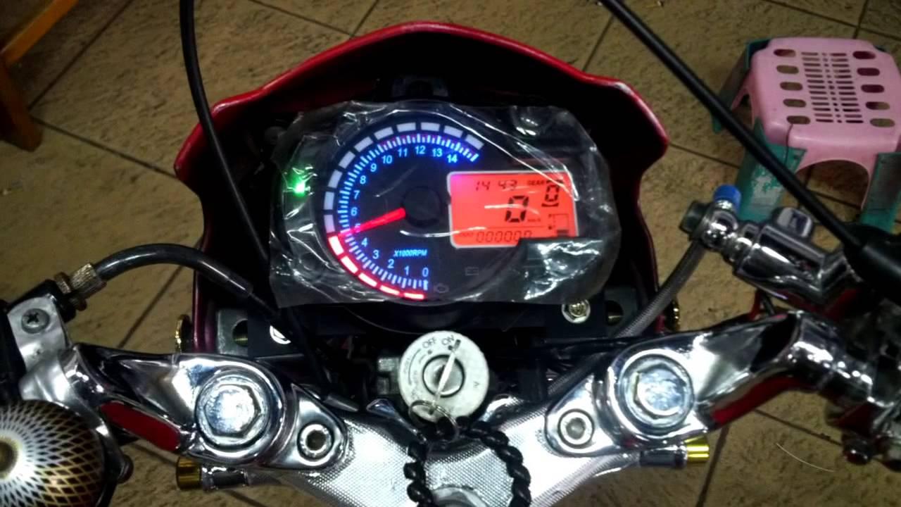 Speedometer Replika RX2N At Satria FU Raider By NEONFLEX