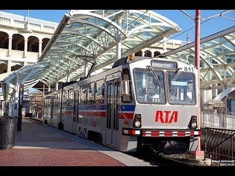 Light-Rail USA Experience, Cleveland Ohio Commuter Train Ride
