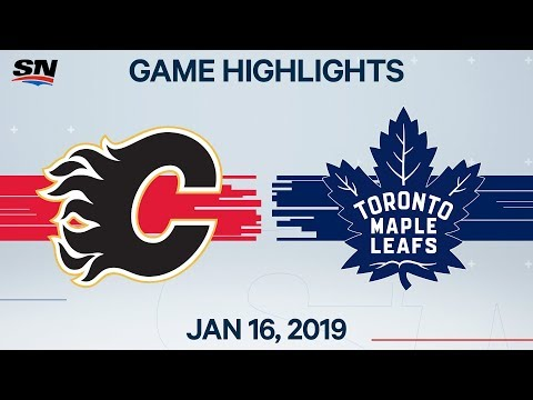 NHL Highlights   Flames Vs. Maple Leafs – Jan. 16, 2020
