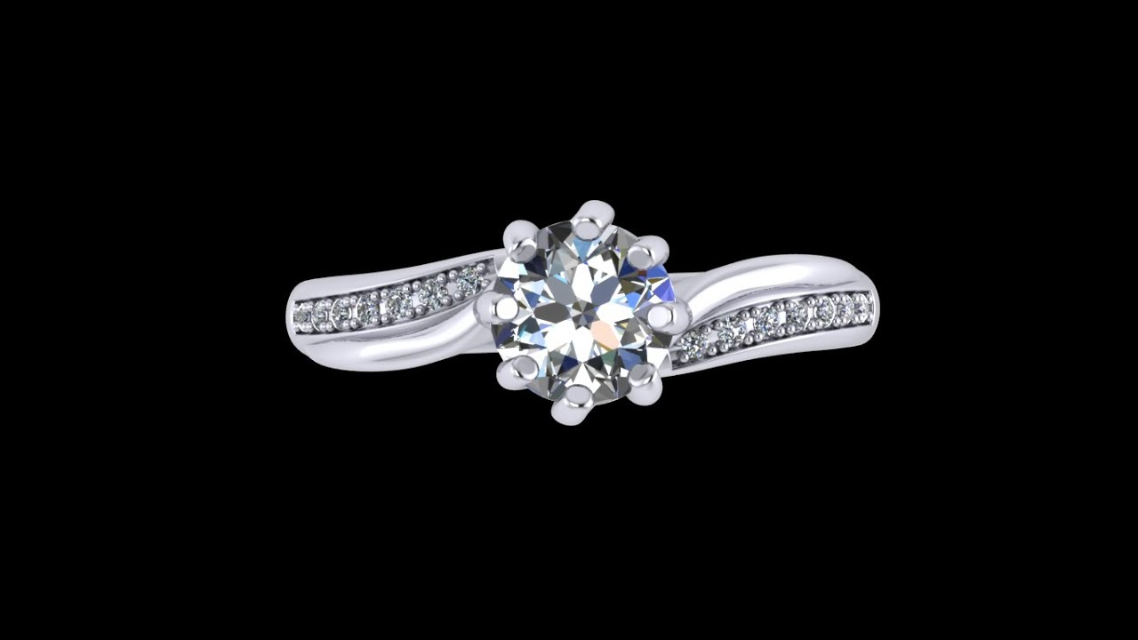Cc17 Jewelry Digital Able File Engagement Ring Stl Format For Jewelers