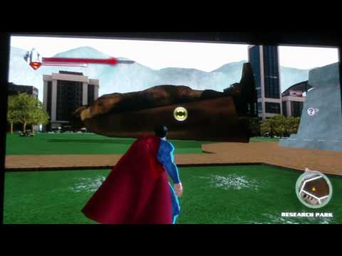 superman returns the game how to blow superman statue