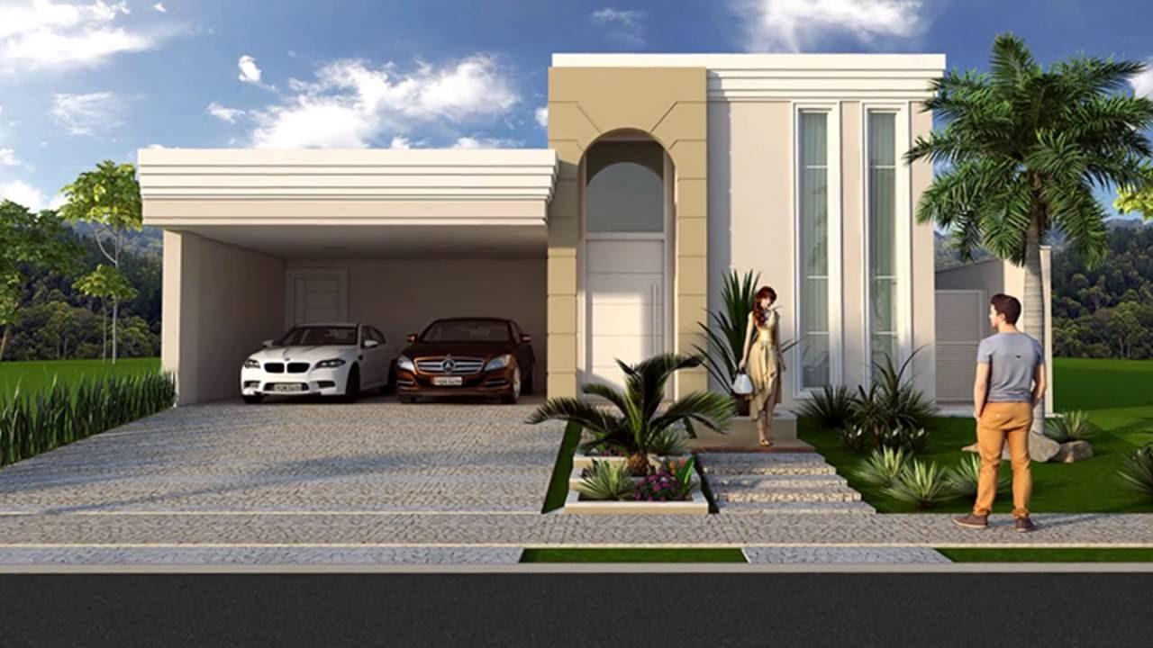 Projeto de casa com fachada neoclassica em condominio de for Fachada apartamentos pequenos