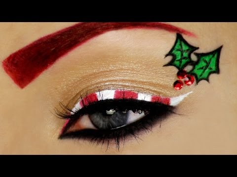 Candy Cane Christmas Makeup Tutorial