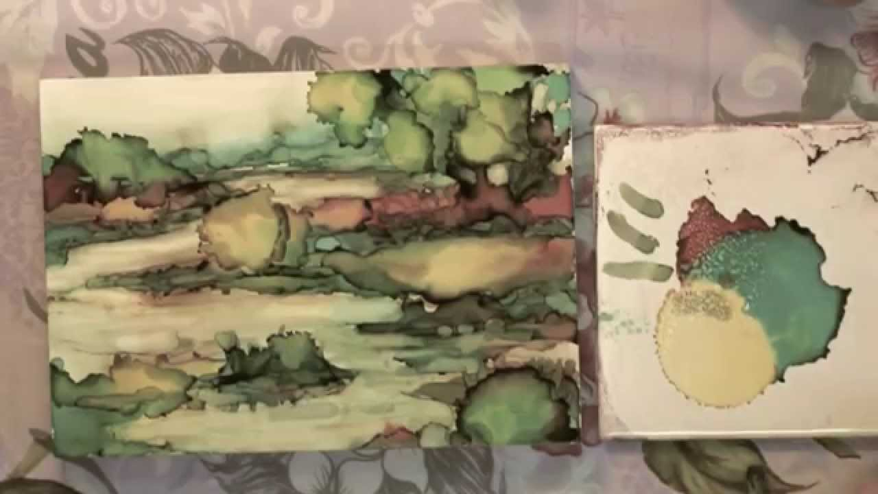 Alcohol ink painting a landscape youtube baditri Images