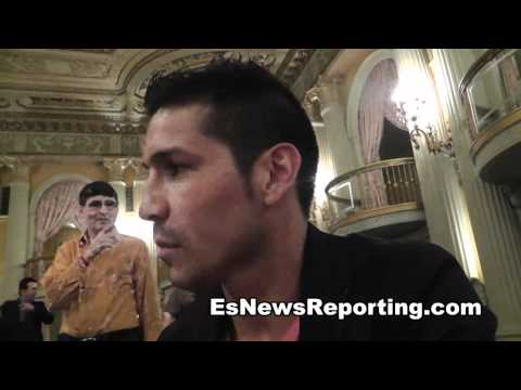 Elie Seckbach interviews sergio Martinez 1 on 1