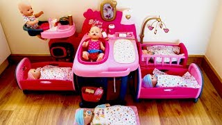 Baby House Large Nursery Center Baby Born and Baby Annabell Baby Dolls Care Routine Pretend Play