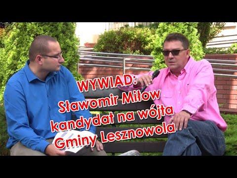 Wywiad ze Sławomirem Miłowem - kandydatem na wójta Gminy Lesznowola