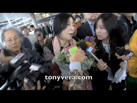 Shin Eun Mi  Deported From South Korea For Praising North Korea she lands at LAX