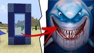 Minecraft: COMO FAZER UM PORTAL PARA O MUNDO DO TUBARÃO ASSASSINO !!