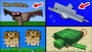 NEW Mobs Added in Minecraft 1.13 Update
