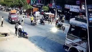 Danger bike accident in Nepal Tanahun
