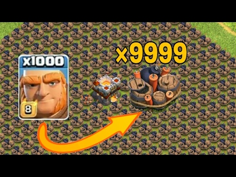 1000 Giants Attack on 9999 Giant Bomb base||Attack Strategy||Clash of Clans||