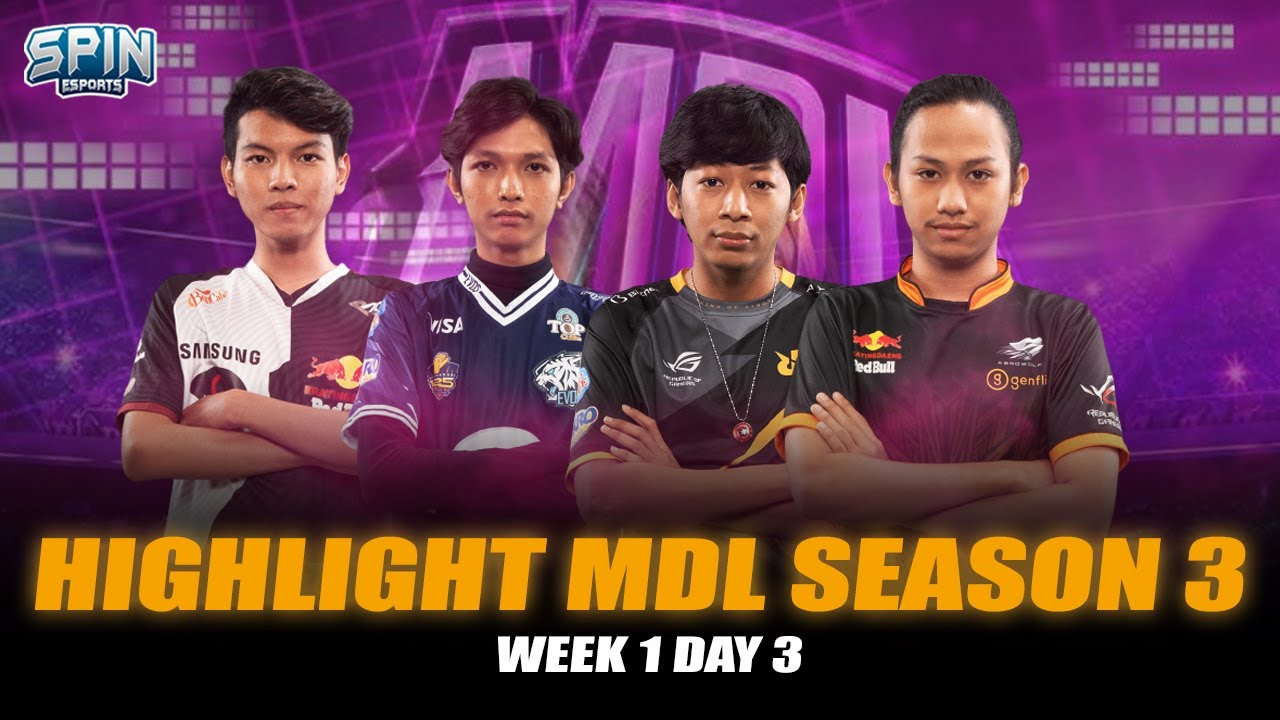 Highlight MDL S3 Week 1 Day 3 - RRQ SENA & EVOS ICON MASIH TAK TERKALAHKAN! | SPIN ESPORTS