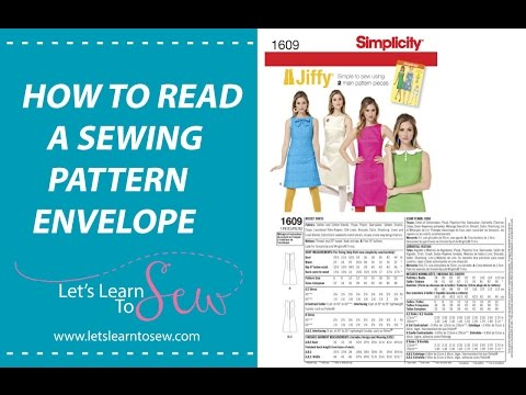 How To read A Sewing Pattern - YouTube