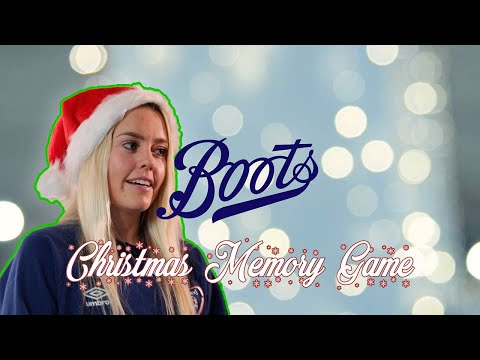 Denise O'Sullivan takes on the Boots Christmas Memory Game