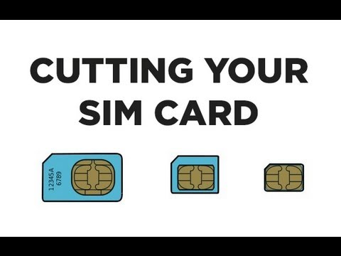 Cut Your Sim Card Into A Nanosim Card With Printable Template