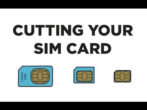 Cut your SIM Card into a NanoSIM Card WITH Printable Template - micro sim template