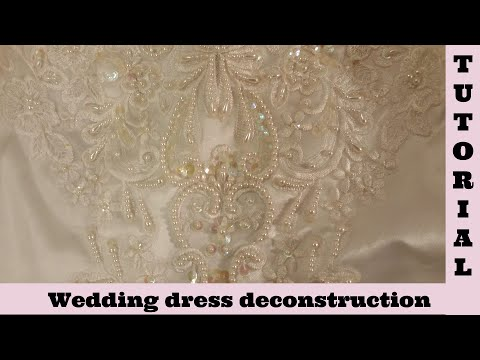 Wedding dress deconstruction shabby chic tutorial lace