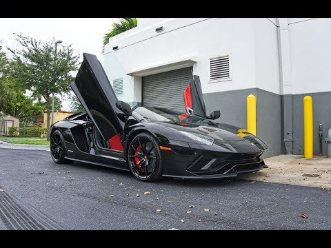 2018 Lamborghini Aventador S Start Up Amazing Sound Interior Exterior at Lamborghini Miami