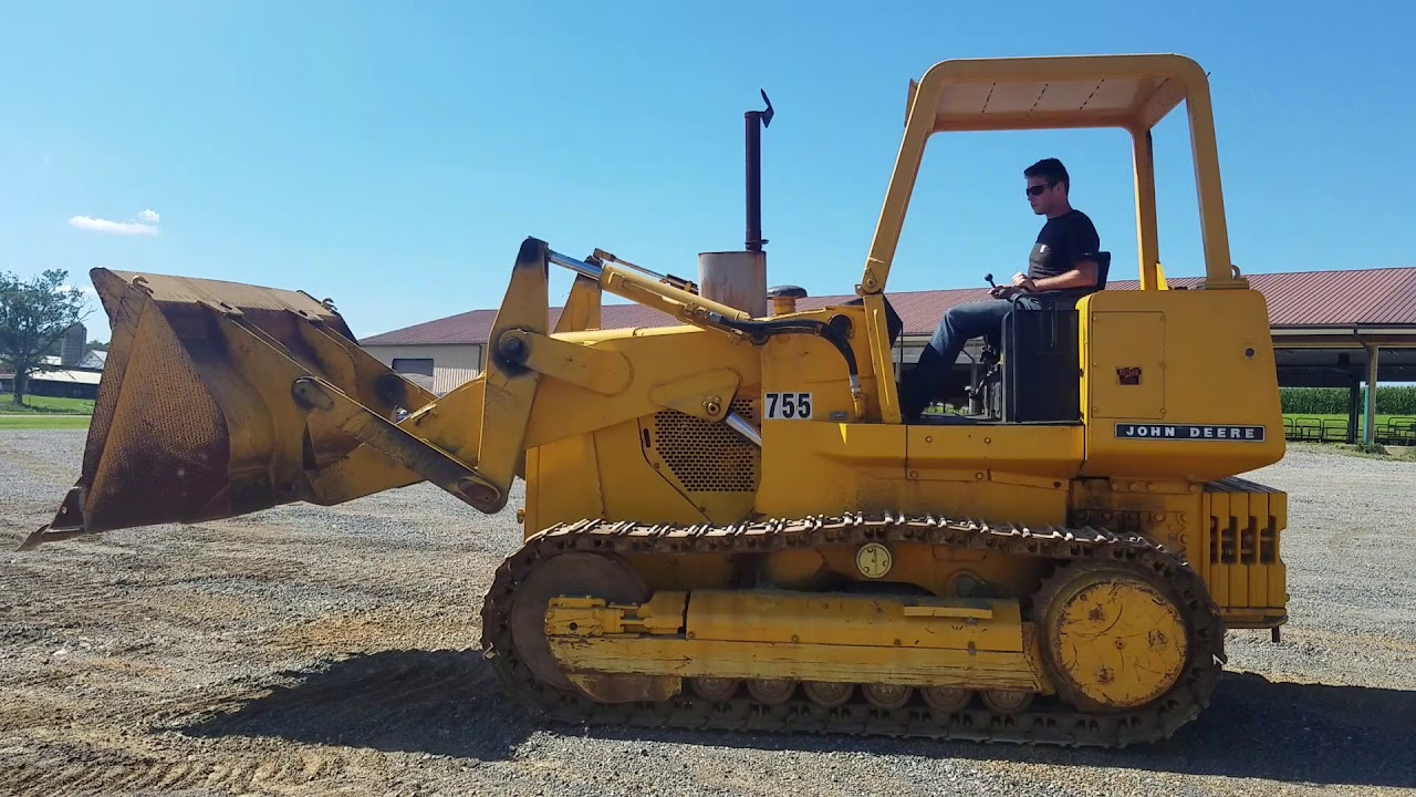 1978 john deere 755 crawler track loader for sale inspection video youtube. Black Bedroom Furniture Sets. Home Design Ideas