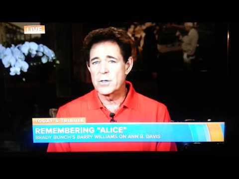 TODAY: Barry Williams Remembers Alice Ann B. Davis