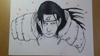 Speed Drawing Senju Hashirama -  #1 INKTOBER 2016