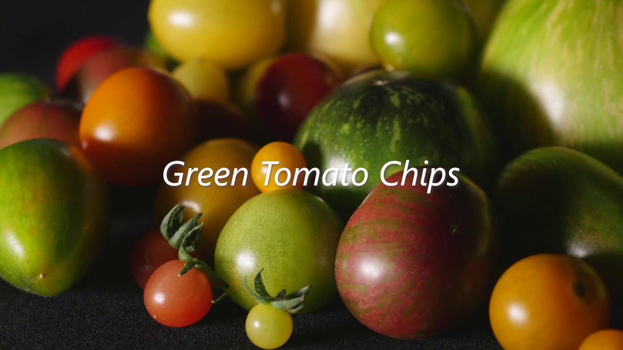 Making tomato chips: green tomatoes do their own thing