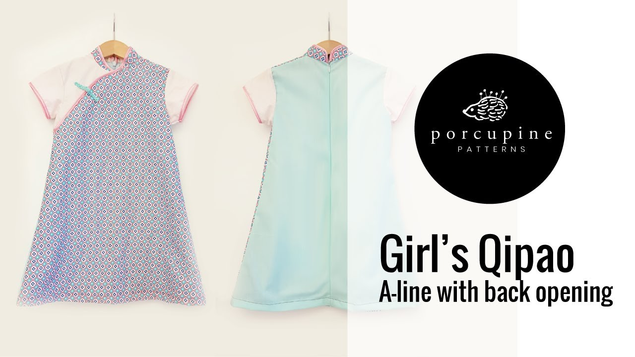 Sewing video tutorial for girls qipao pattern with back zip sewing video tutorial for girls qipao pattern with back zip opening jeuxipadfo Choice Image