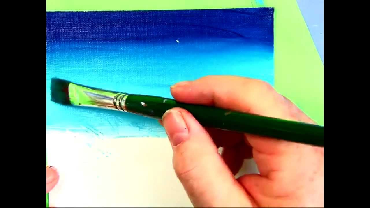 How to smoothly blend from dark to light with acrylic tips for Acrylic mural painting techniques