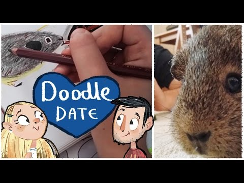 Drawing with our GUINEA PIGS | Doodle Date