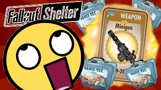 Fallout Shelter - OMG BEST GUN EVER! MY FIRST LUNCH BOX OPENING! - Fallout Shelter IOS Gameplay