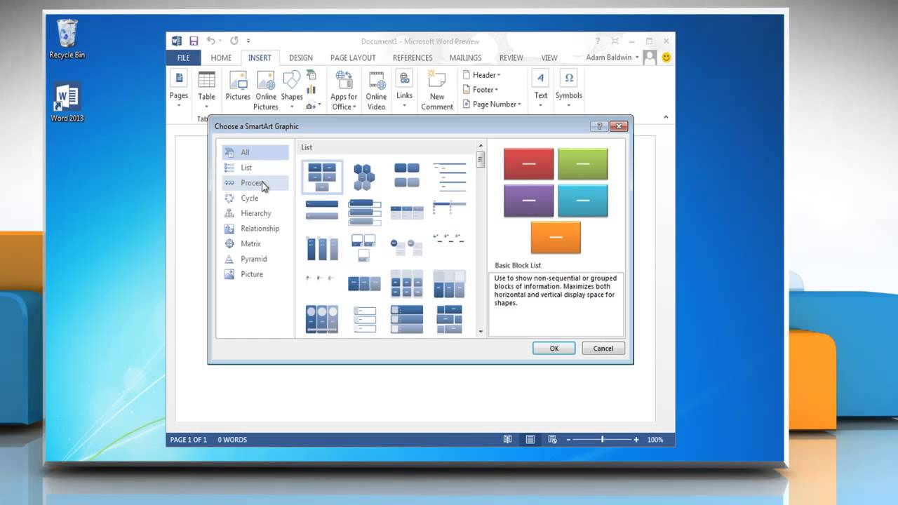 How To Add Or Delete A Box From A Flow Chart In Microsoft� Word 2013   Youtube