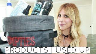 Empties: Products I've Used Up | Summer Saldana