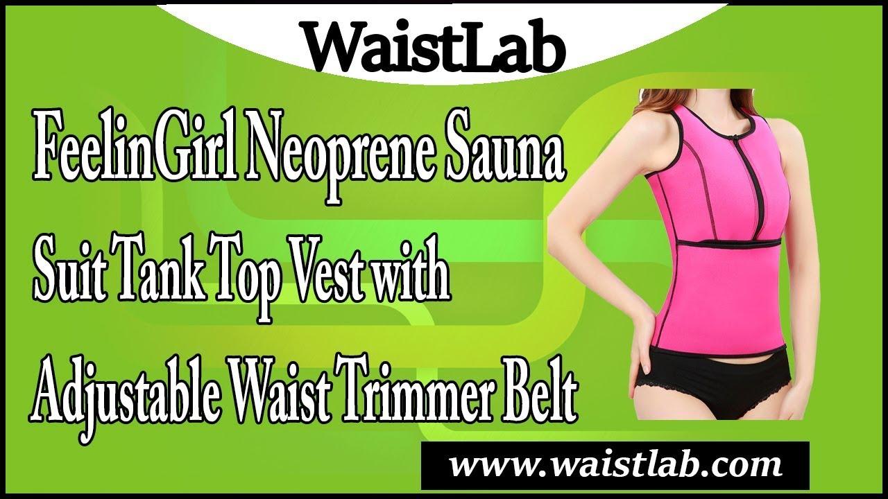 f73f9e5c9a7 FeelinGirl Neoprene Sauna Suit Tank Top Vest with Adjustable Waist ...