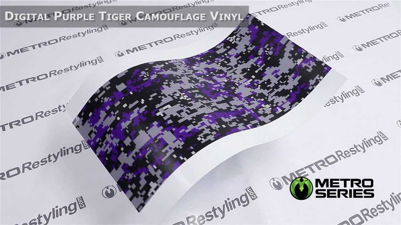 3f56e8a600 Metro Digital Purple Tiger Camouflage Vinyl Wrap Film - YouTube
