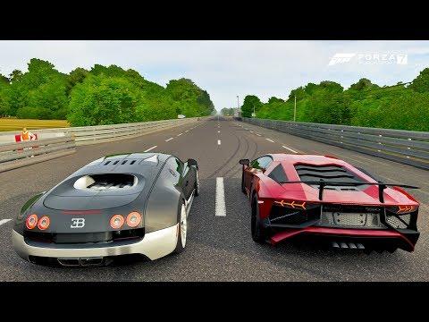 Bugatti VS Aventador Na Pista De Arrancada - Forza Motorsport 7 Online - ZOIOOGAMER