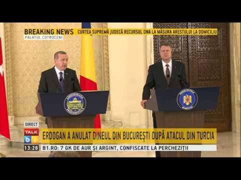 Presedintele Turciei Recep Erdogan la Palatul Cotroceni