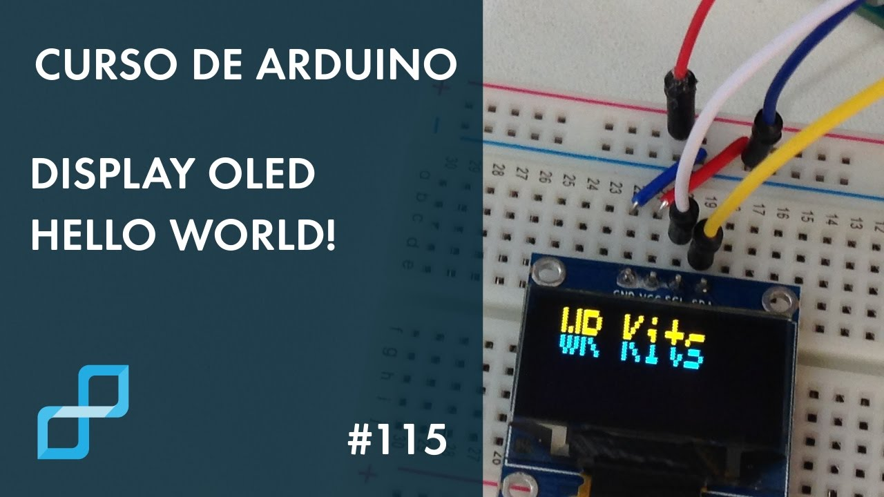 Display oled hello world curso de arduino youtube