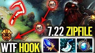 ZIPFILE Pudge - 100% Brain Hack HOOK | Legendary Pudge Player 7.22 Dota 2