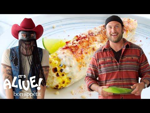 Brad And Orville Peck Make Elote (Mexican Street Corn) | It's Alive | Bon Appétit