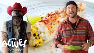 Brad and Orville Peck Make Elote (Mexican Street Corn) | It