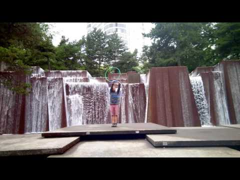 Spinning at Keller Fountain in Portland