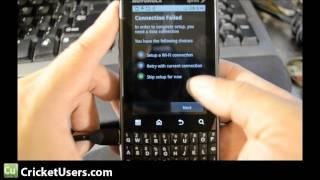 CricketUsers.com - Sprint Motorola XPRT Bypass Activation Screen