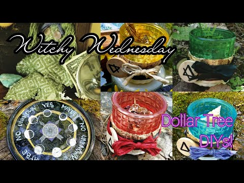🌙Witch Wednesday🌙 6 Magickal #DollarTree #DIYs And GIVEAWAYS!!