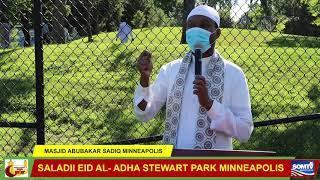 SALADA EID AL-ADHA STEWART PARK MINNAPOLIS EE ABUBKAR SADIQ MINNEAPOLIS MN.