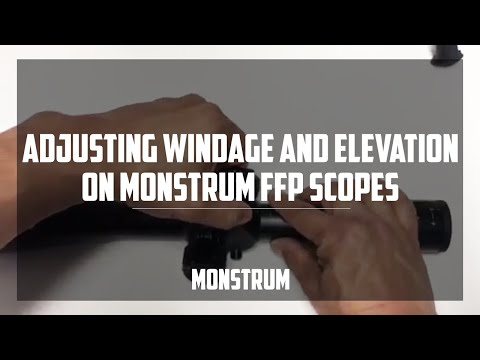 how to adjust the windage and elevation on our first focal plane